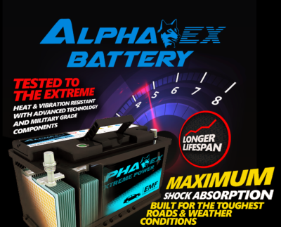 ALPHA EX BATTERY - Extreme Performance batteries that last longer than other batteries. Trinidad and Tobago Best Car batteries come with 18 months warranty.